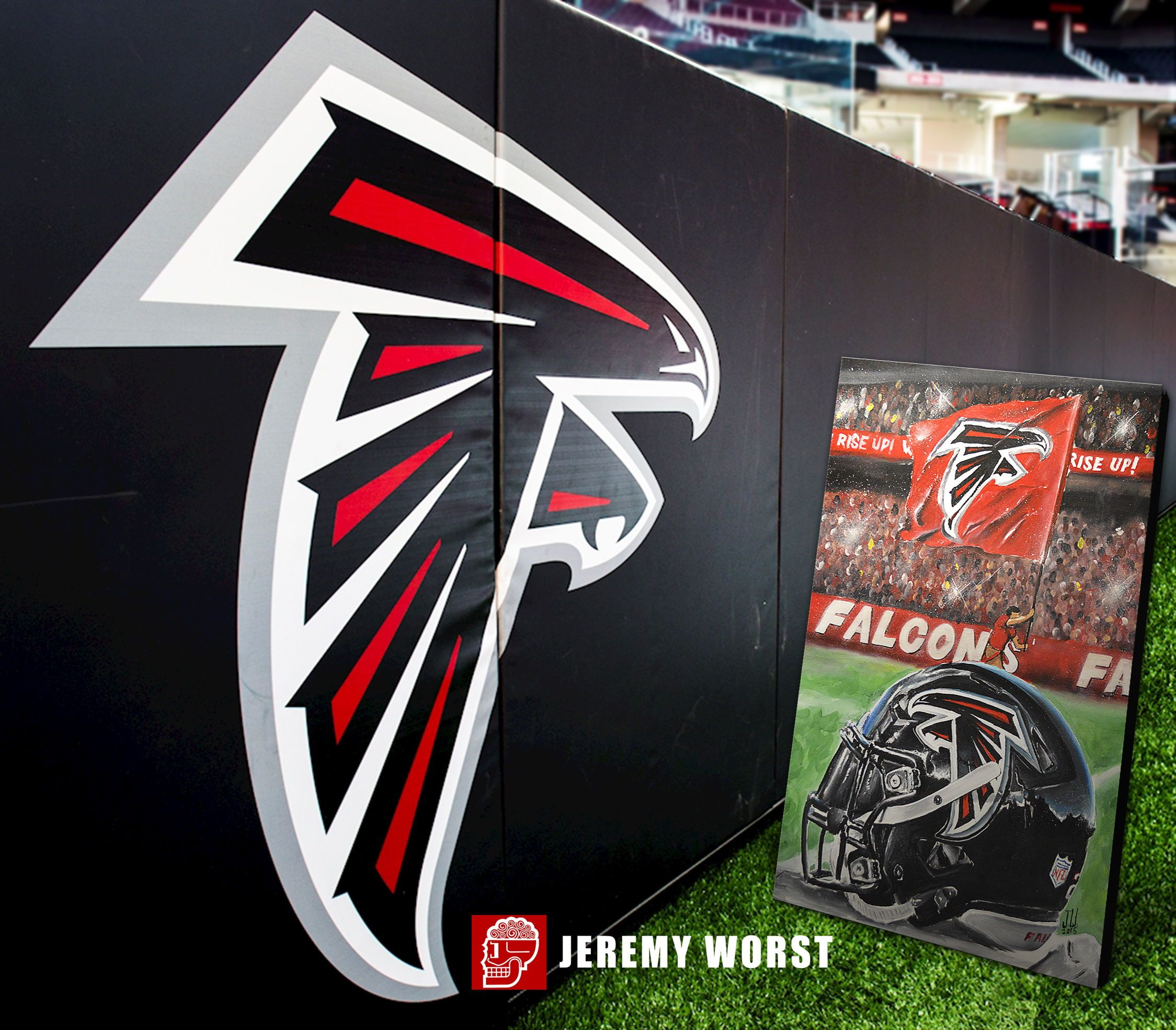Falcons Painting Hand Painted Falcons
