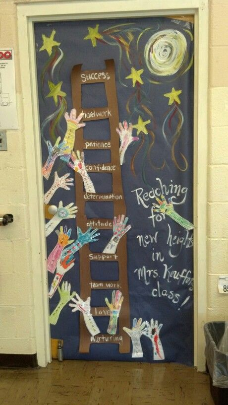 Beginning of the year door decor! Students decorated hands ...