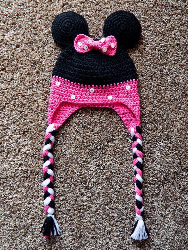Minnie Mouse Crochet Hat http://crochetdlane.blogspot.com/2014/08/a ...