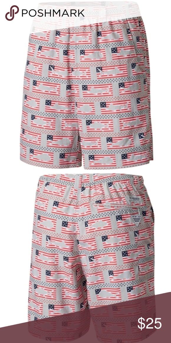 e57e93ac2a Columbia|Backcast III Water Shorts NWT Various sizes available Color: Cool  Grey Americana Fish