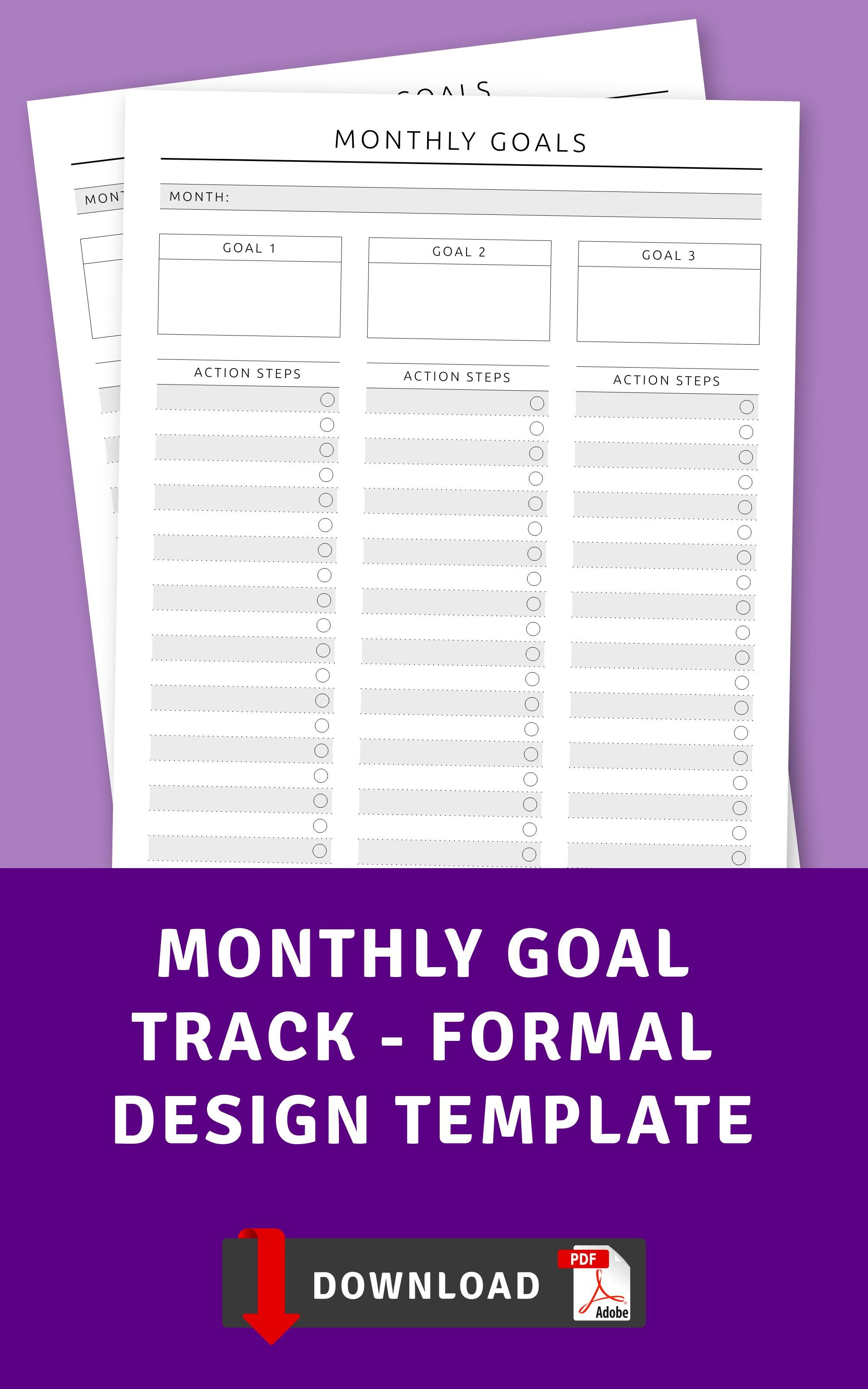 Monthly Goal Track