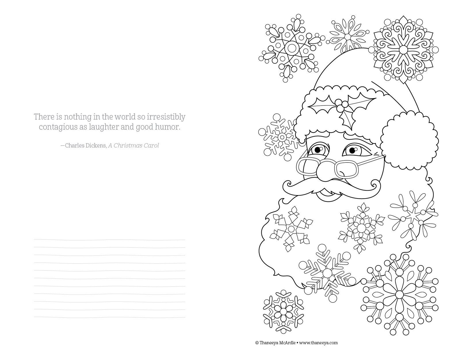 Color Christmas Coloring Book Perfectly Portable Pages On The Go Thaneeya