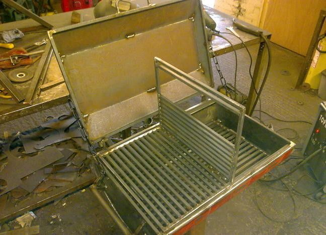 The Patio BBQ is a bespoke design.  It is built in two parts to aid positioning.