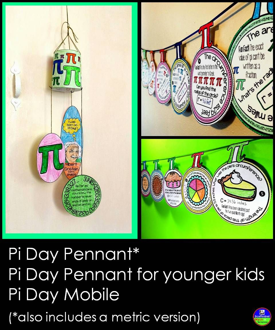 Pi Day Activities Bundle Pi Day Math Pennant Day [ 1152 x 960 Pixel ]