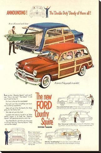 The New Ford Country Squire Stretched Canvas Print by | Art.com