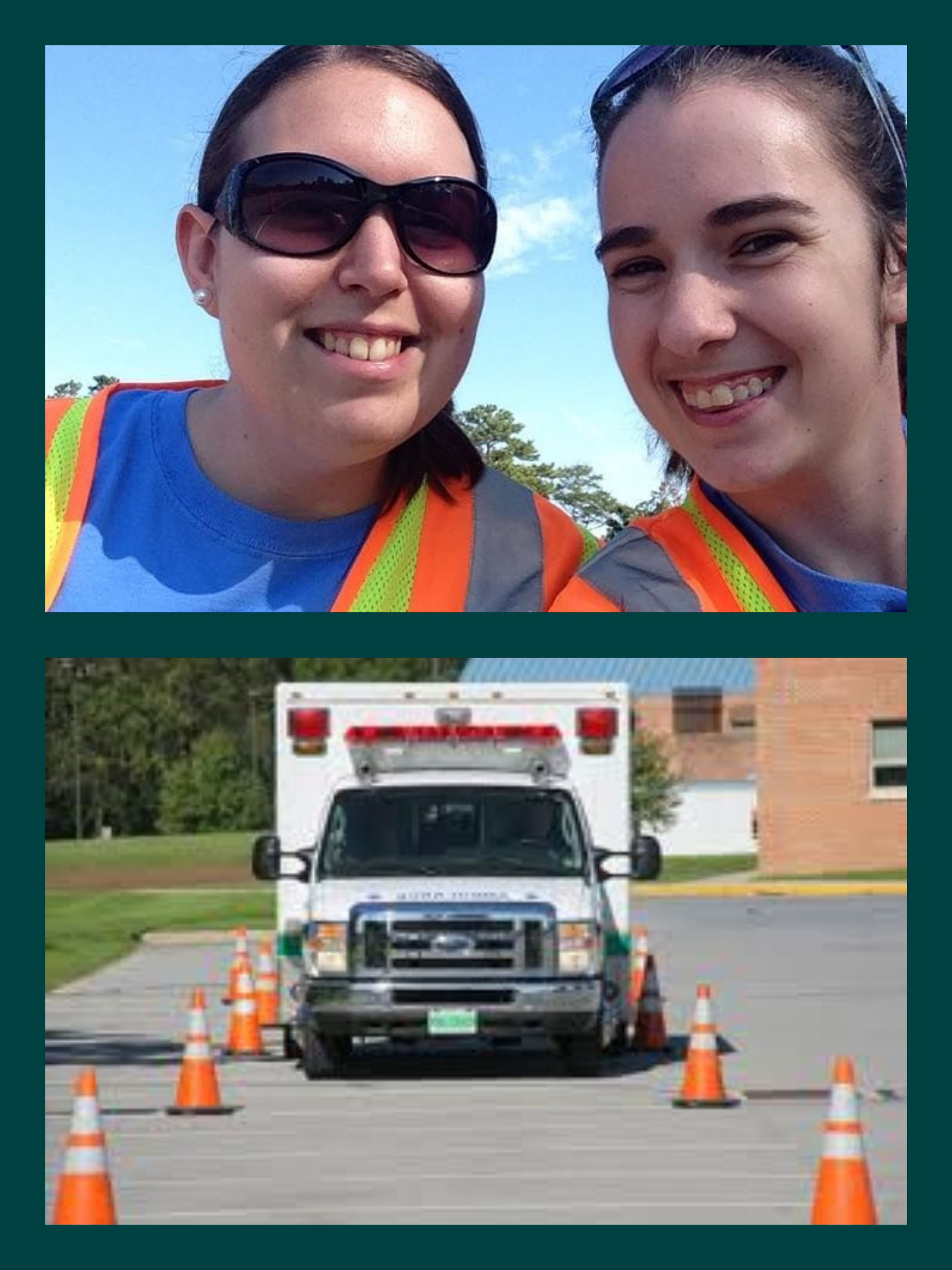 kaylan and shelby just completed their emergency vehicle operators course  way to go