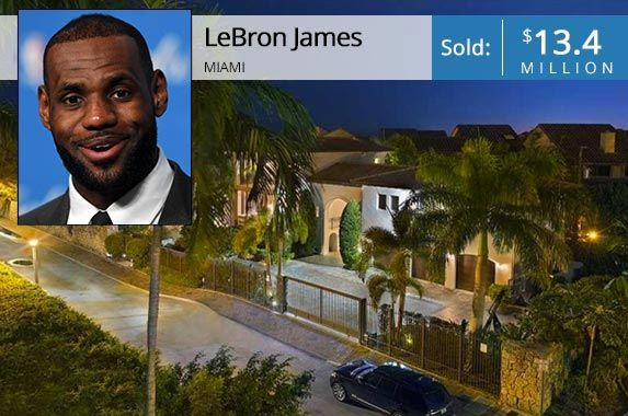 See The Miami Palace Lebron James Sold For 13 4m Miami Houses