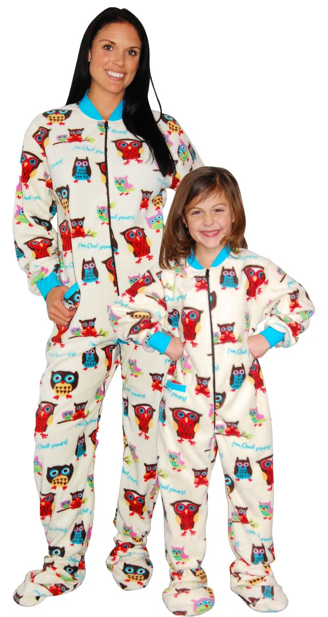 Holiday Matching Family Pajamas Blue Snowflakes Footed