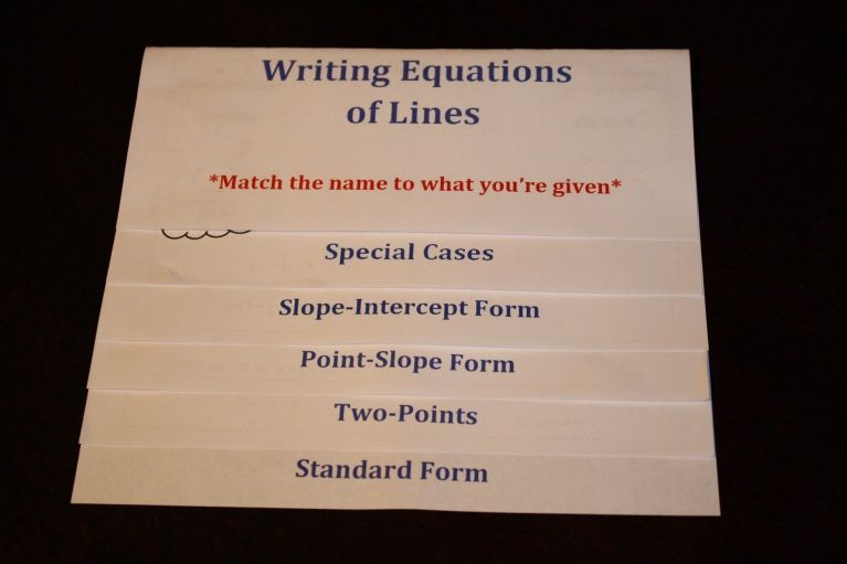 Writing Equations Of Lines Flipchart Equation Students And Learning