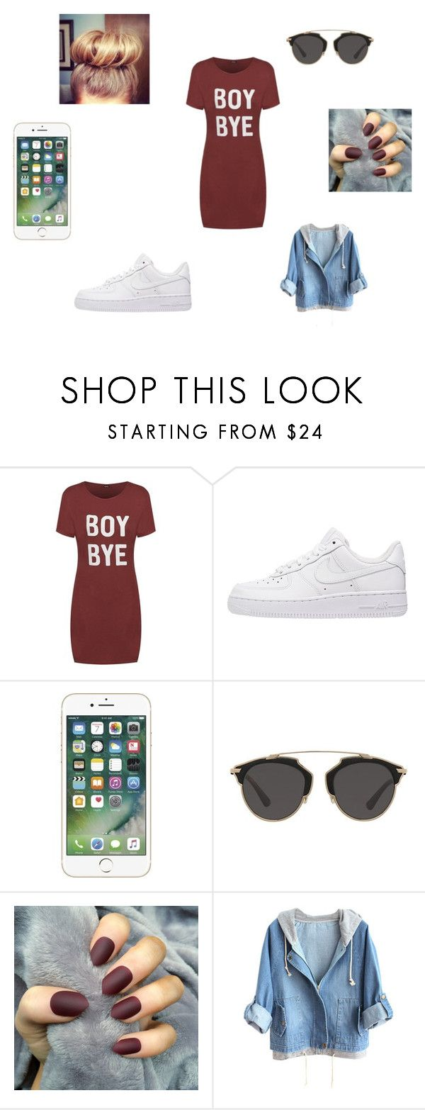 """summer style#1"" by merel-meuleman on Polyvore featuring mode, NIKE en Christian Dior"