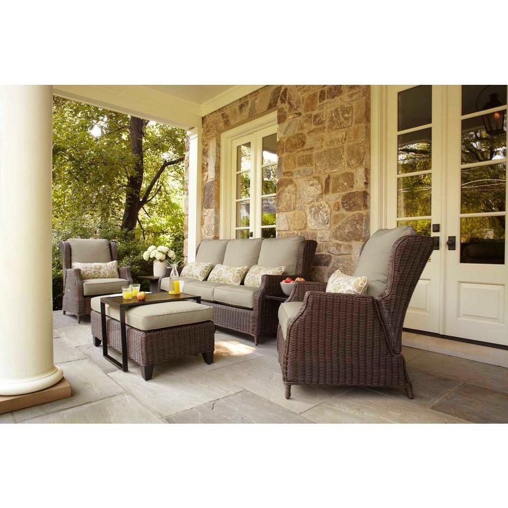 My dream patio set brown jordan vineyard patio sofa in meadow with aphrodite spring the home depot