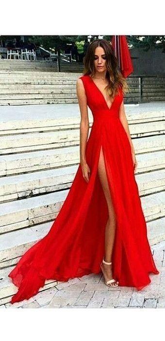 Sexy Slit Evening Dress fcc0bd6c71a4