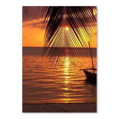 Americanflat 'Zanzibar Sunset Palm Ocean' Photographic Print Size: