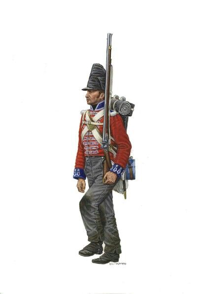 Private 4th foot at Waterloo