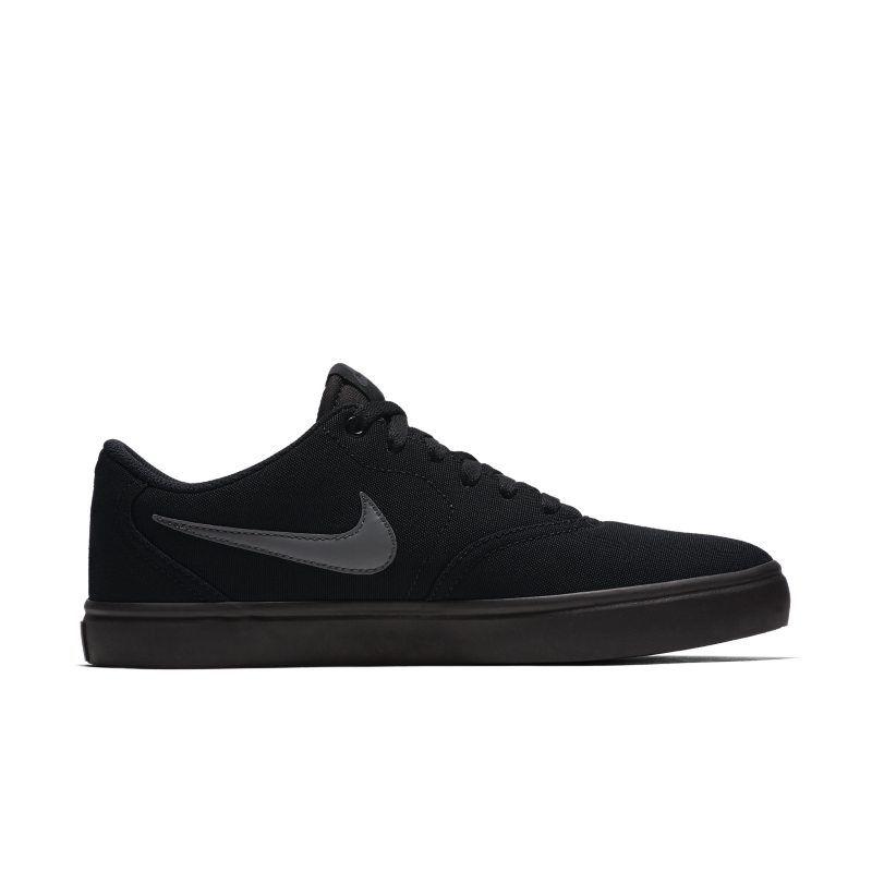 Nike SB Check Solarsoft Canvas Men's Skateboarding Shoe - Black ...