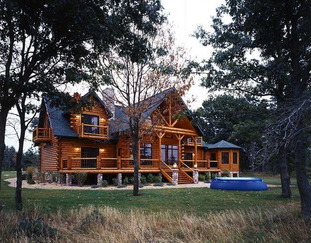 modern log cabin plans