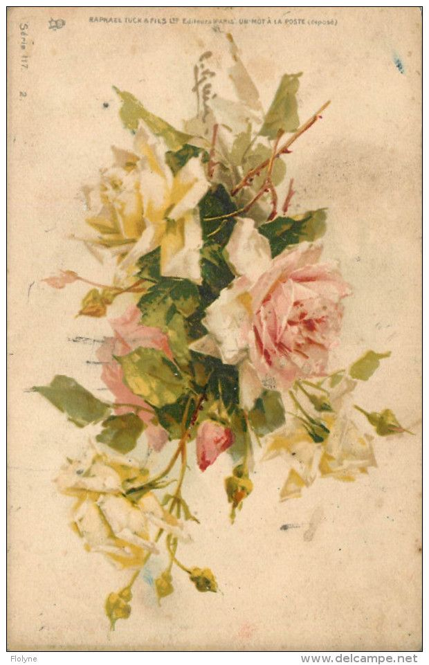 "Catharina KLEIN - Illustrateur - "" Roses "" - éditeur Raphael Tuck & Fils Serie 117. 2. - Klein, Catharina"