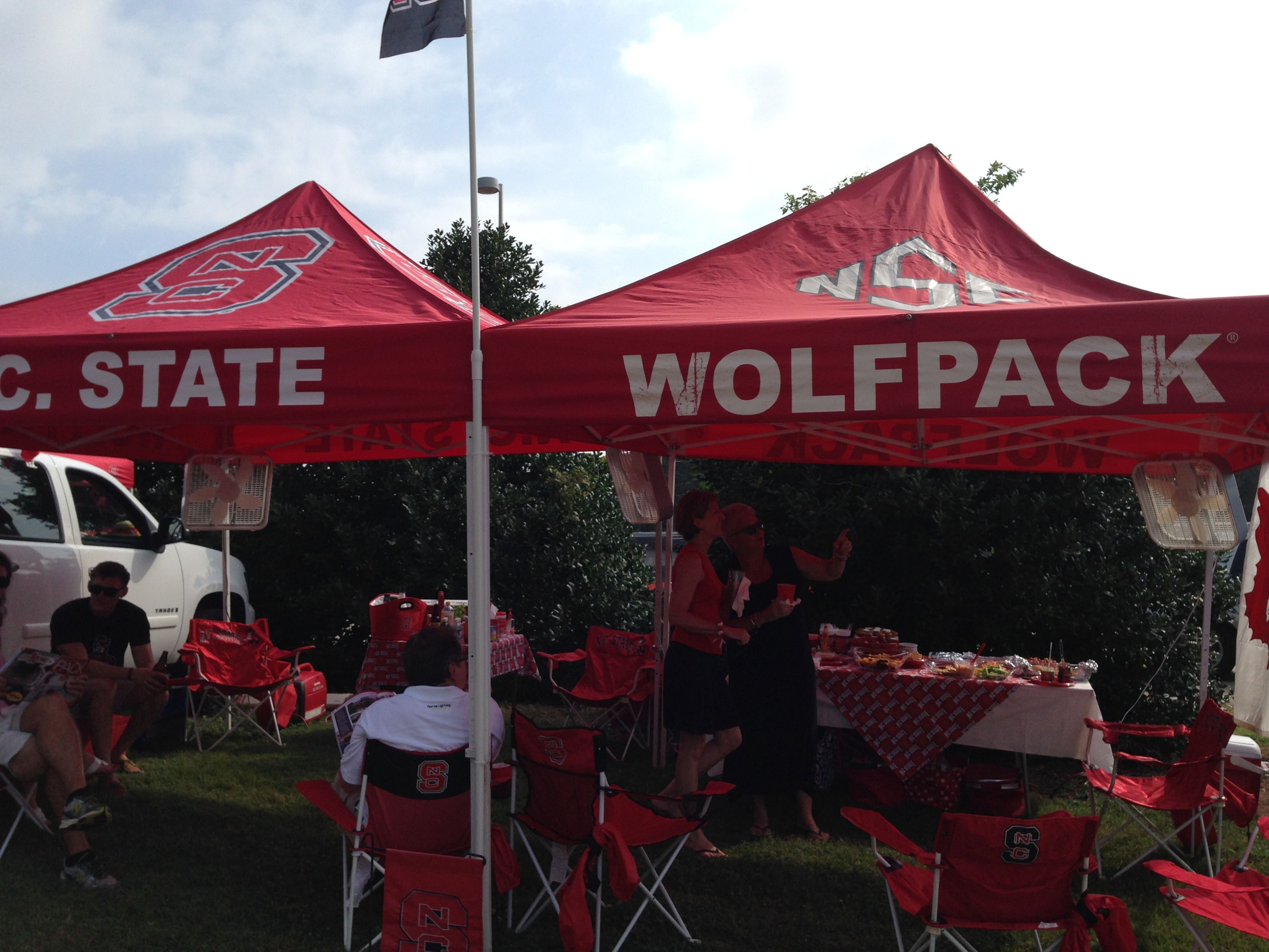 One of the oldest approved NC State tailgating tents! #NCStateTailgate #NCSU #GoPack & One of the oldest approved NC State tailgating tents ...