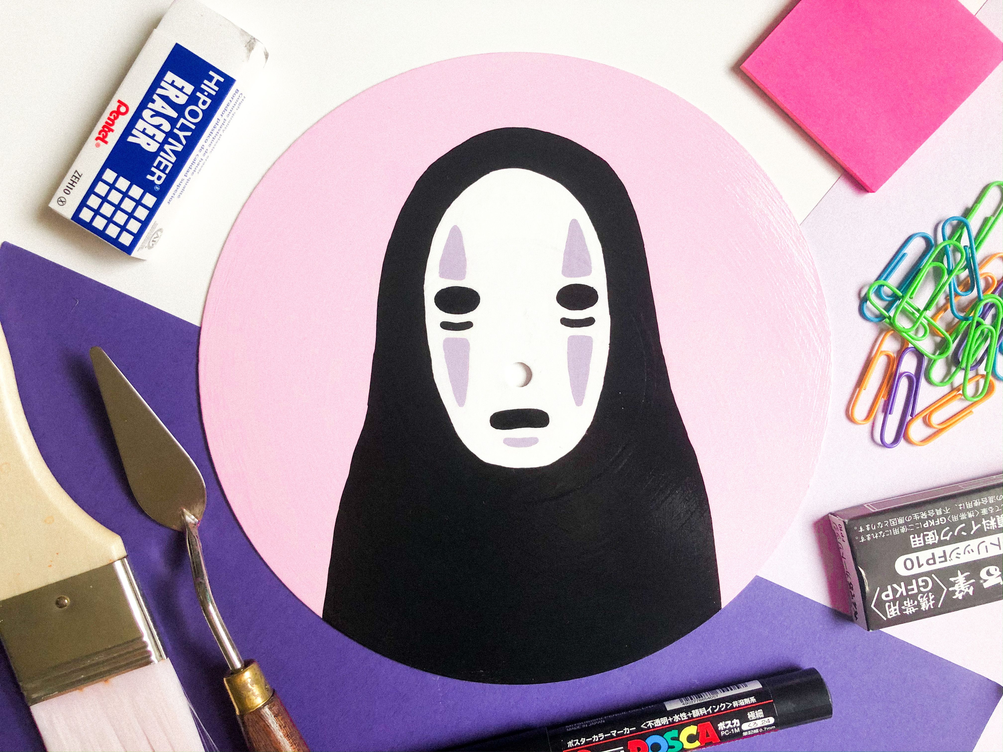No Face Spirited Away Vinyl Record Painting In 2020 Instagram Instagram Photo Photo And Video