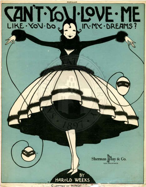 Can't you love me like you do in my dreams? 1918