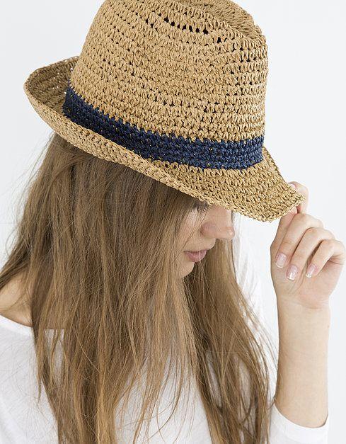 Sombrero rafia bicolor  fcb9d4dc9e3