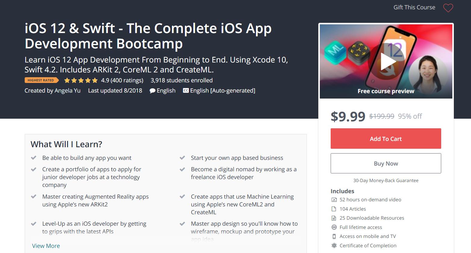 iOS 12 & #Swift - The Complete iOS #App #Development #Bootcamp
