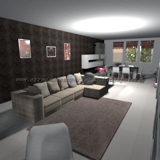 Il divano con penisola progetti in 3d home decor for Progetti in 3d