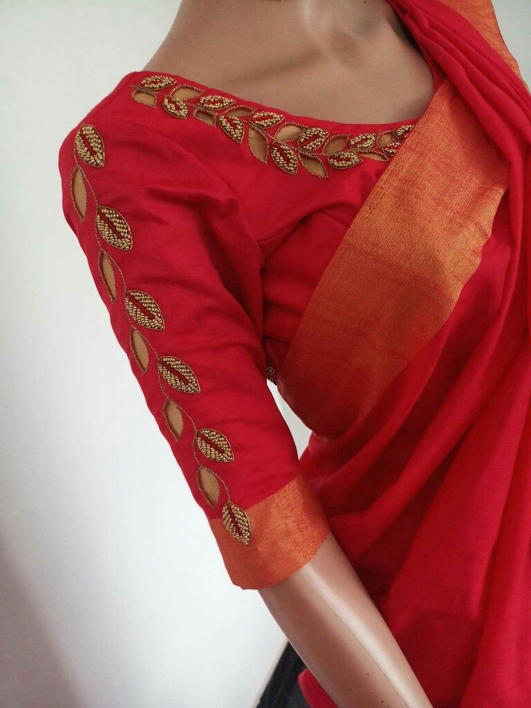 Saree blouse design sleeve pin by rohita on projects to try  pinterest  blouse designs