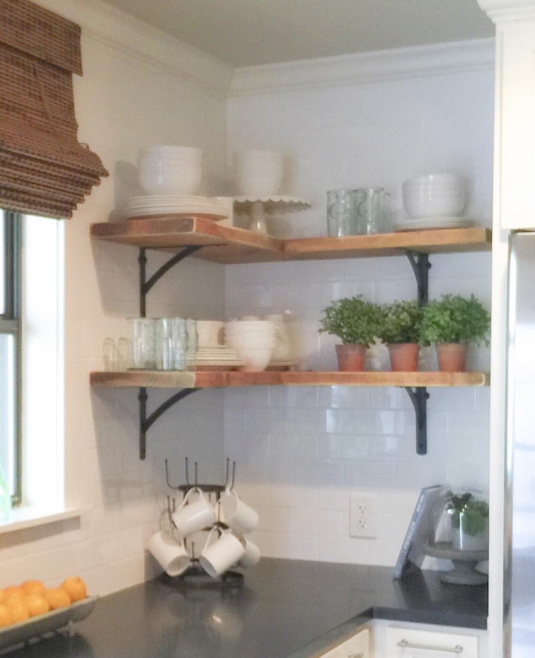 Shanty Sisters on Instagram Simple corner shelves We