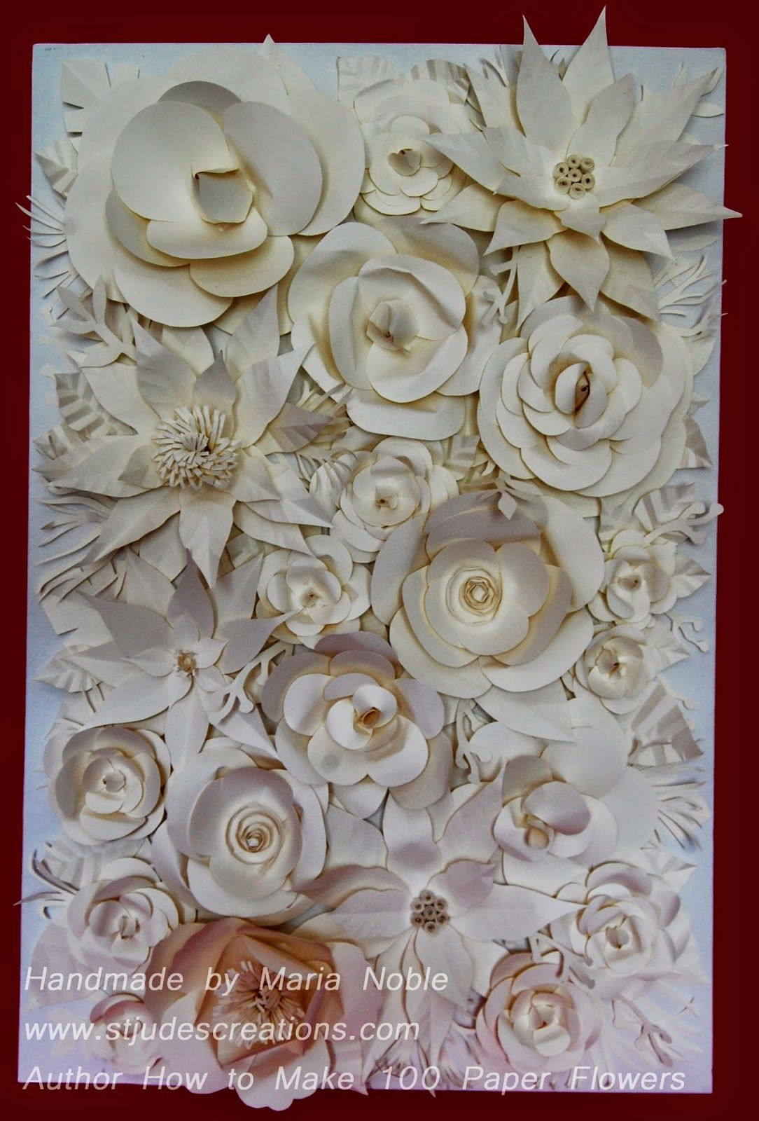 Chanel camelia for a paper flower wall art for backdrop or