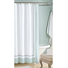 Image Of Wamsutta 72 Inch X 72 Inch Hotel Shower Curtain In Aqua Hotel Shower Curtain Long Shower Curtains Extra Long Shower Curtain