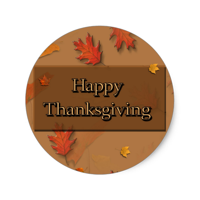 Happy Thanksgiving Classic Round Sticker...read more