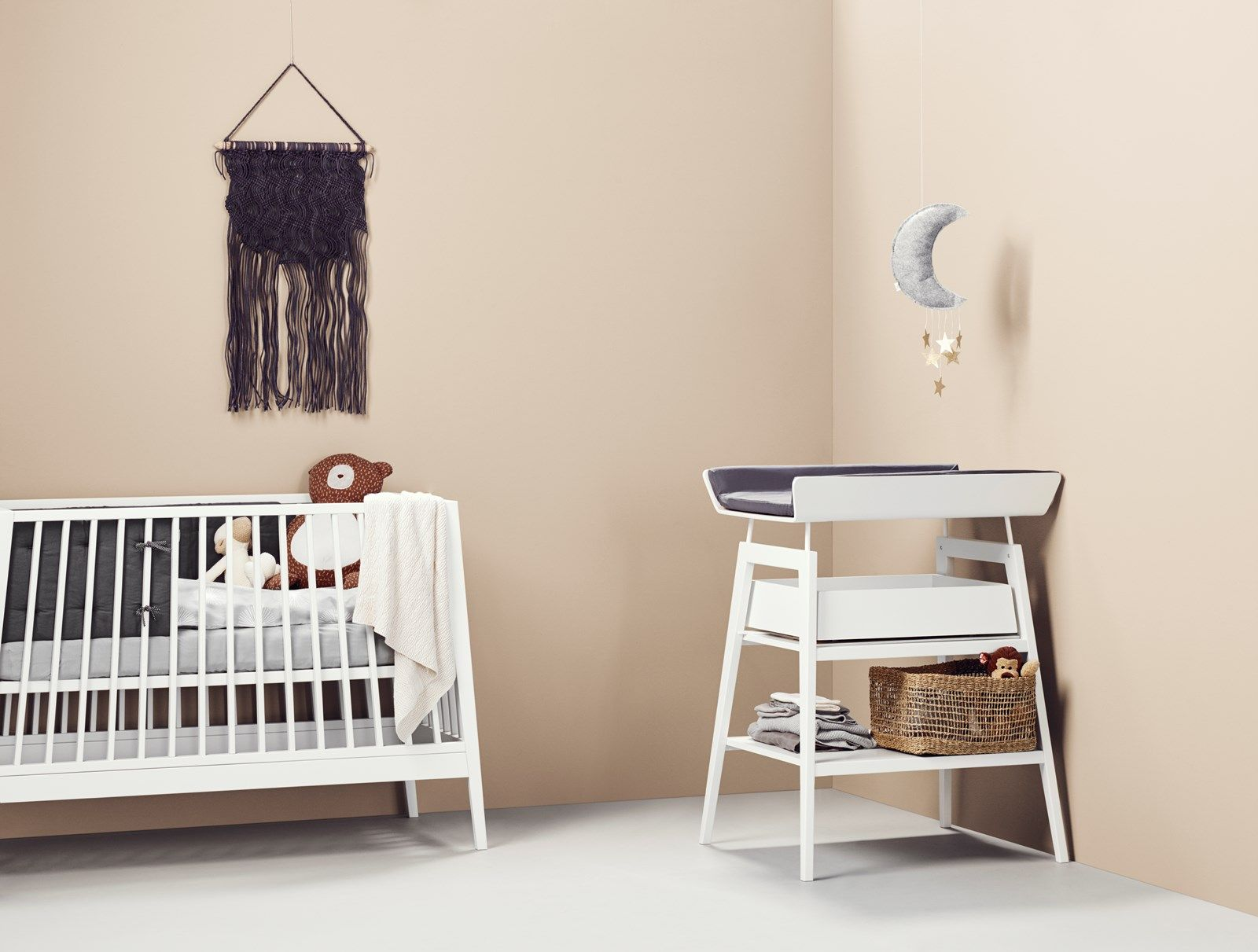 Linea By Leander Baby Cot Changing Table With Drawer
