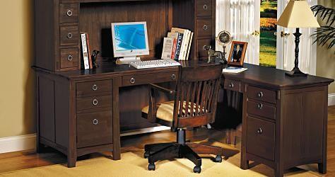 Classic Chocolate Home Office Desk   #ValueCityPinToWin