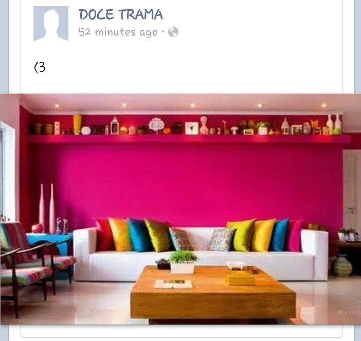 Pink livingroom walls #DoceTrama | For the Home | Pinterest | Walls ...