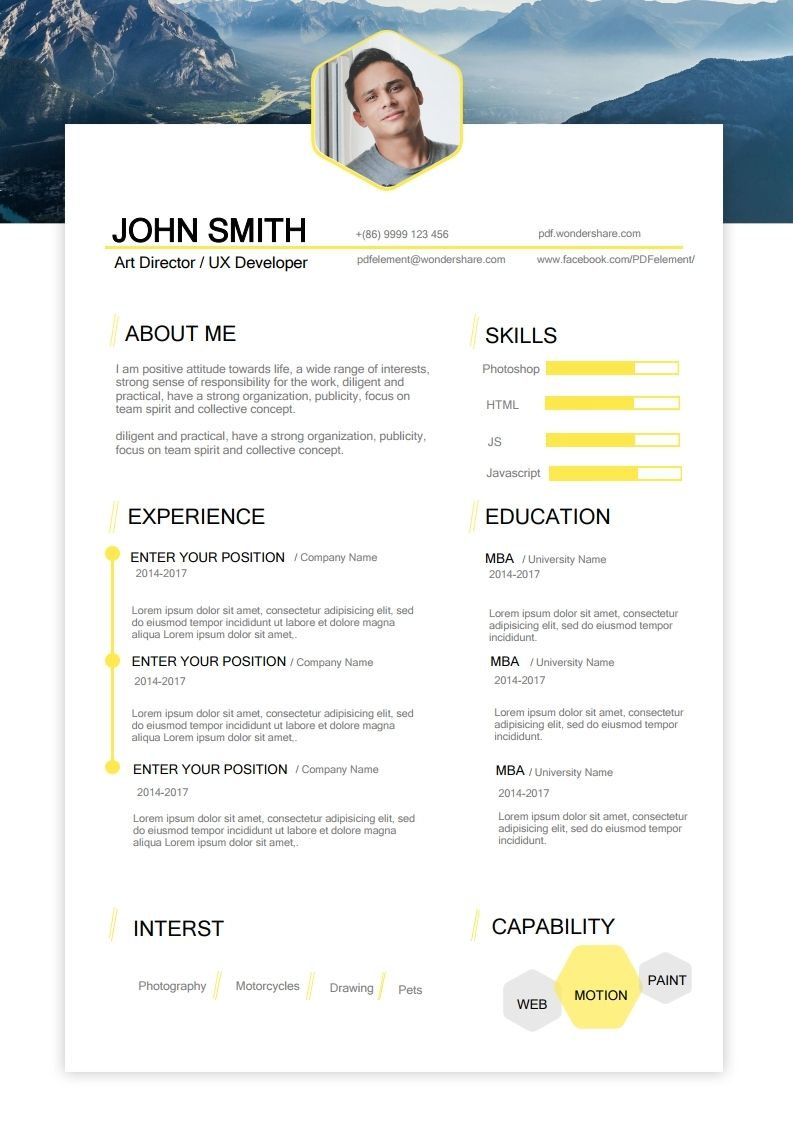 Acting Resume Template Free Download, Edit, Create, Fill