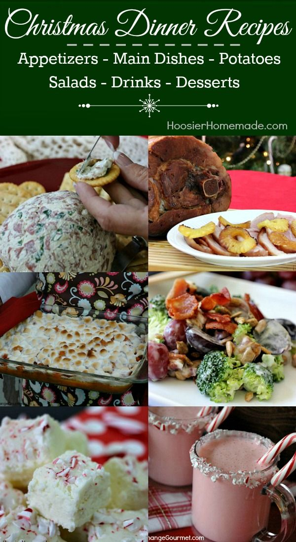 Christmas Dinner Ideas Appetizers Main Dishes Potatoes Salads