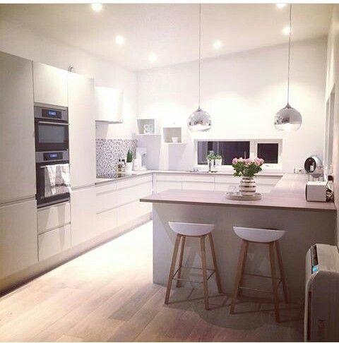 Ideen Für Die Küche, Küchen Ideen, Küche Mit Insel, Gardinen Küche, Haus  Umbau, Küchen Design, Haus Küchen, Neues Zuhause, Küche Esszimmer