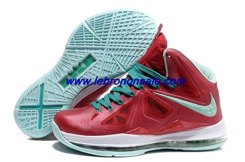 new product 5236e 68795 Authentic Nike Lebron X (10) Varsity Red Fresh Green-White For Wholesale