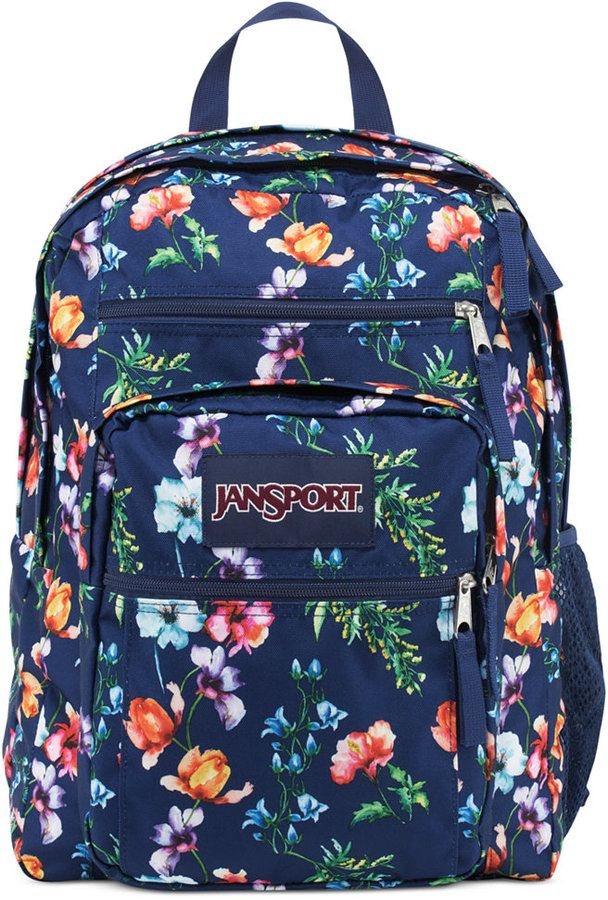 Jansport Jansport Big Student Backpack in Multi Navy Mountain Meadow ... 906c37766ea75