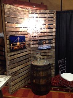Free Standing Pallet Wall Section Off A Larger Space By Creating