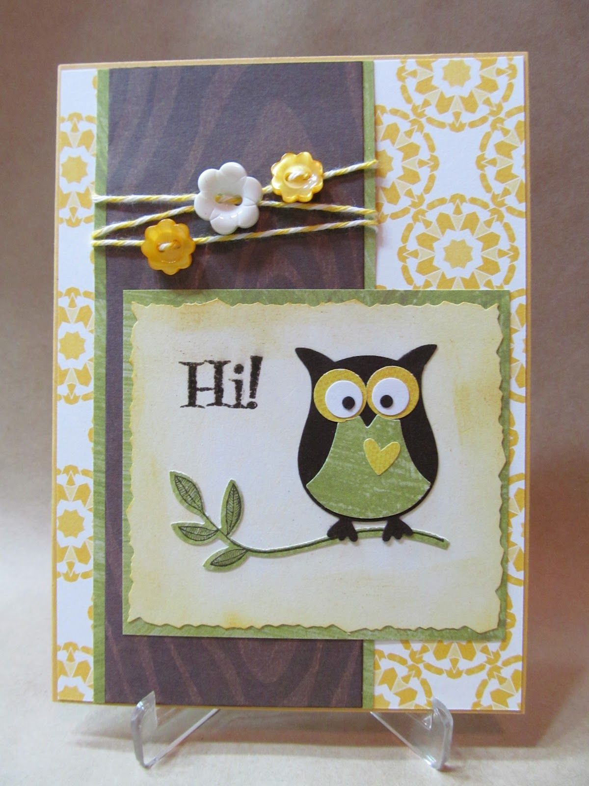 Awesome Card Making Ideas Owls Part - 4: Savvy Handmade Cards: Owl Hi Card