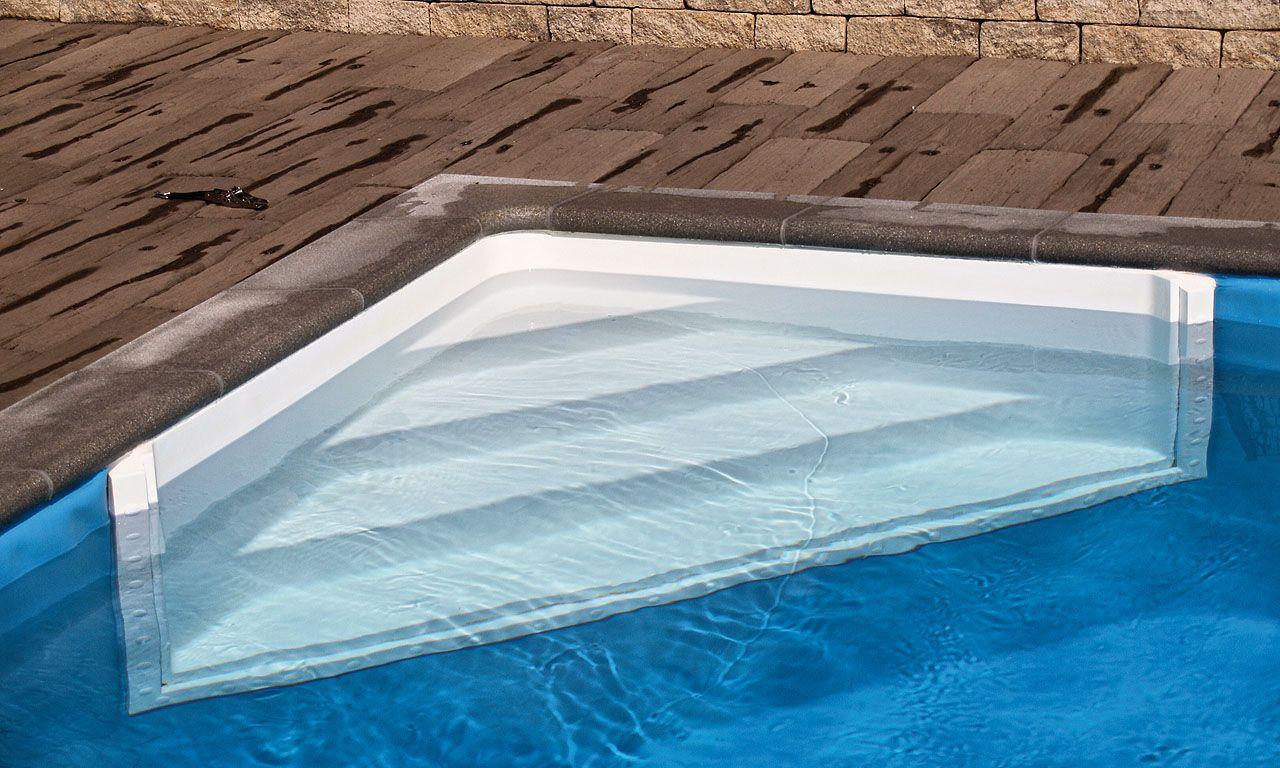 einstiegstreppe in den fertigpool schwimmbad treppen pinterest treppe und schwimmb der. Black Bedroom Furniture Sets. Home Design Ideas