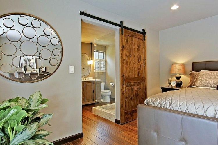 Scheunentor im Schlafzimmer - Das Schiebesystem ist praktisch und ...