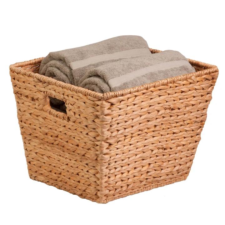Tall Hyacinth Basket Natural In 2020 Natural Baskets Towel Basket Honey Can Do