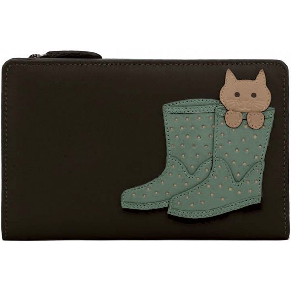 921c81609e Ciccia Cat Puss In Boots Leather Zip Around Purse / Wallet | Cat ...