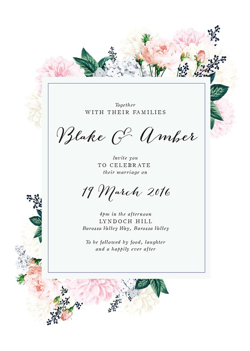 Pale Pastel Floral Wedding Invitations Romantic Florals Antique Vintage Florals Floral Wedding Invitations Pink Wedding Invitations Wedding Invitations Online