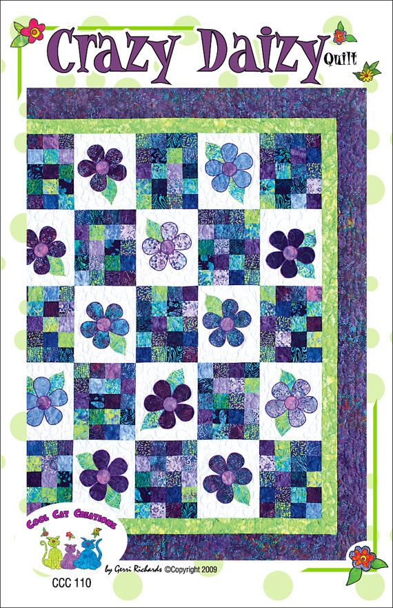 Crazy Daizy Pattern by Cool Cat Creations by coolcatsandquilts, $10.00