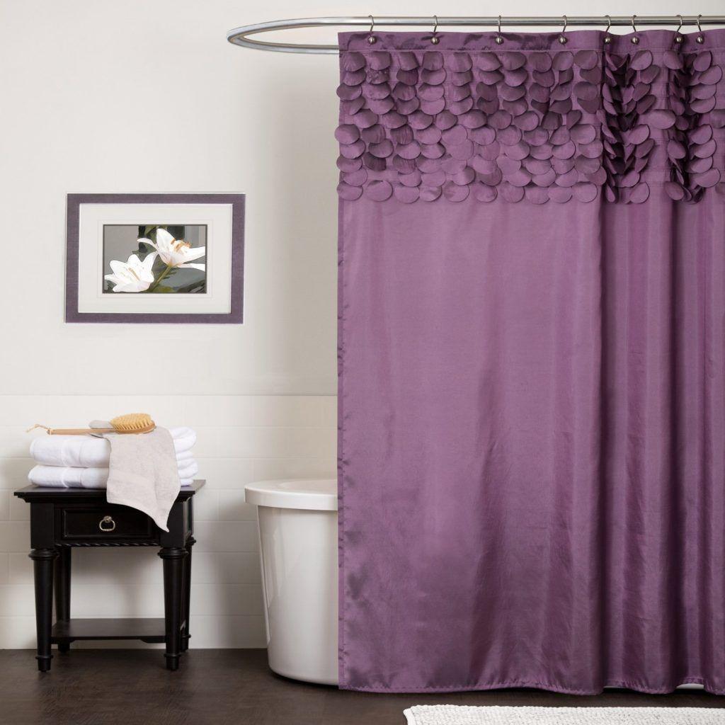 Light Purple Ruffle Shower Curtain