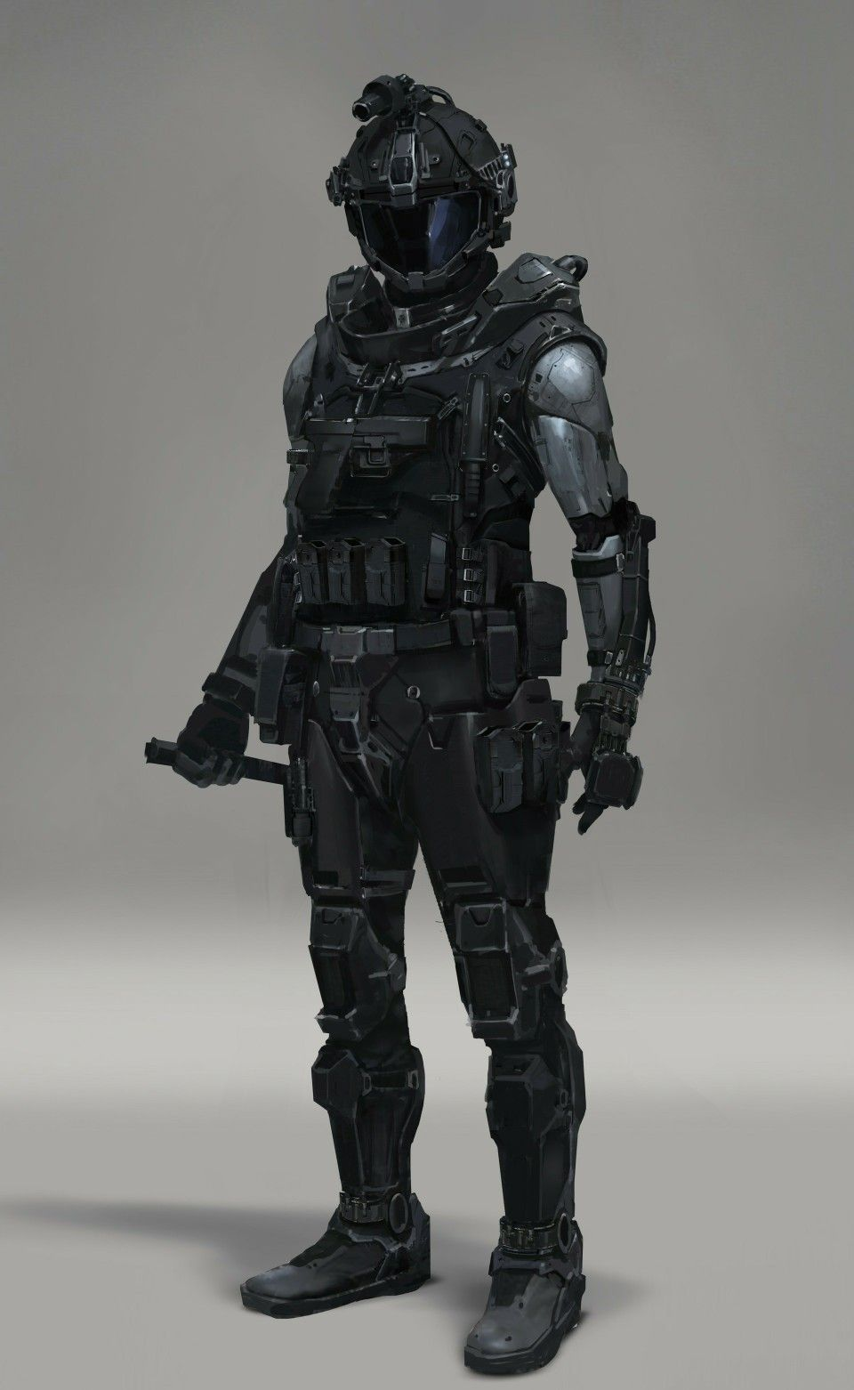 Futuristic military sol r concept art character desi…